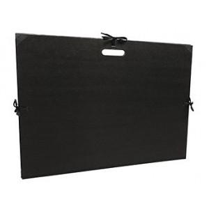Carton à dessin kraft noir à cordons et poignée intégrée