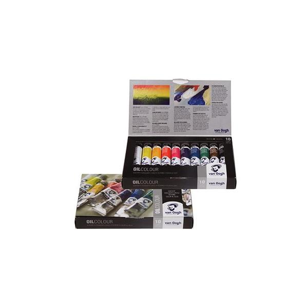 Boîte de 10 tubes de peinture huile fine Van Gogh