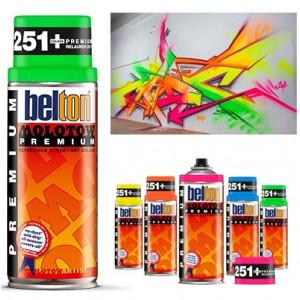 Bombe de peinture fluorescente - Molotow