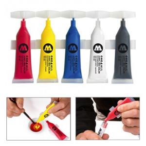 Pack de 5 tubes de peinture acrylique pour marqueur - Molotow