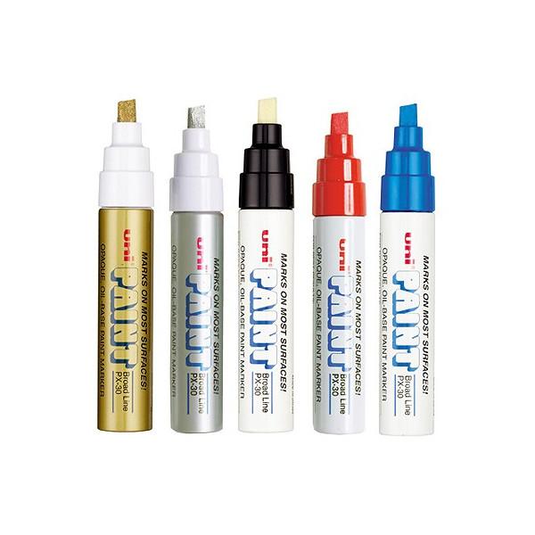 Uni Paint Marker PX30 , marqueur permanent à l'huile - pointe large