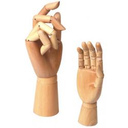 Main droite articulée en bois
