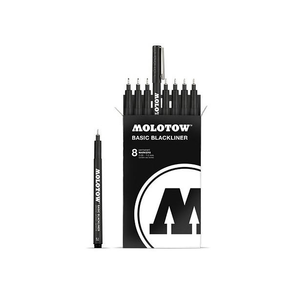 Pochette de feutres Basic Blackliner - Molotow
