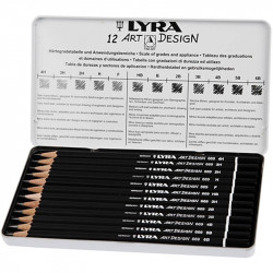 Crayons graphites Art Design en boîte - Lyra
