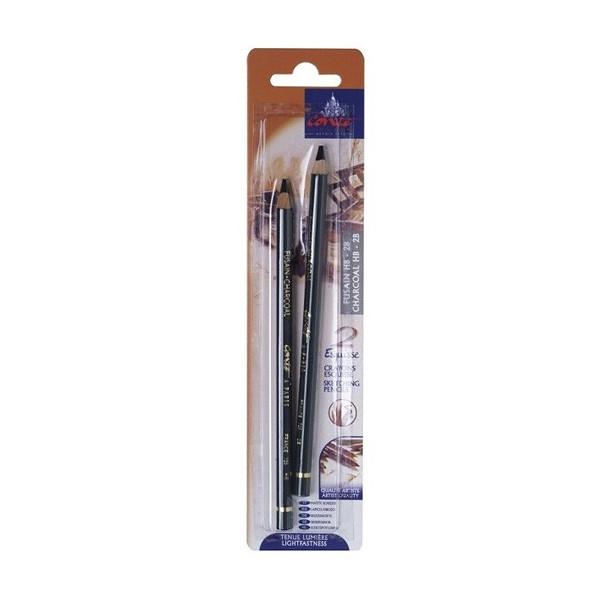 Set de 2 crayons fusains HB/2B – Conté