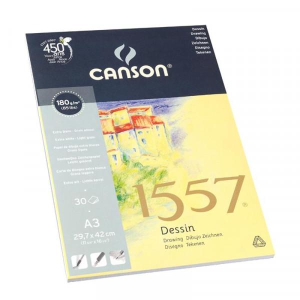 Bloc papier à dessin Canson 1557 - 180g/m²