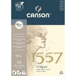 Bloc papier à croquis Canson 1557 - 120g/m²