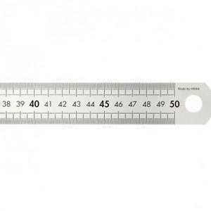 Réglet acier - 50cm