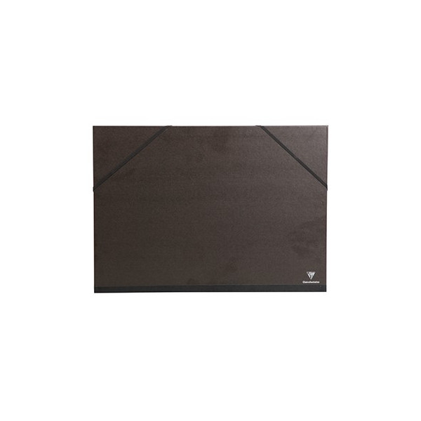 Carton à dessin vergé kraft élastique - Clairefontaine
