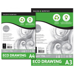 Bloc dessin - papier recyclé - Grain léger 120gr - Daler Rowney