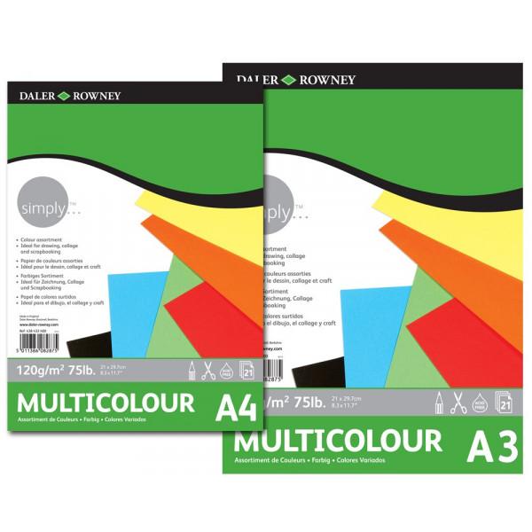 Bloc papier de couleurs - 120gr - Daler Rowney