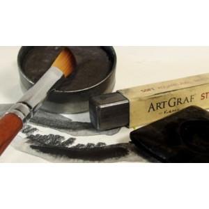 Pavé graphite aquarellable fusain - Noir de carbone - ArtGraf