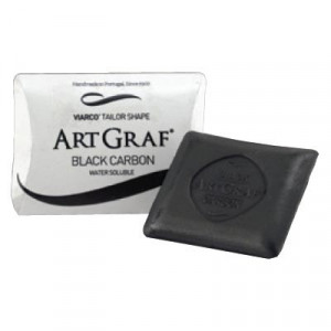 Pavé graphite aquarellable fusain - Noir de carbone - ArtGraf