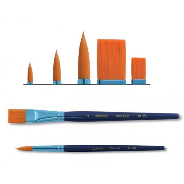 Pochette 5 pinceaux Blue Line - Série 80 - Léonard
