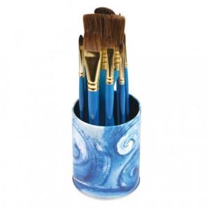 Pot de 10 pinceaux en poils naturels - Aquarelle