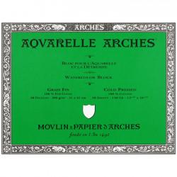 Bloc aquarelle Arches - grain fin 300gr