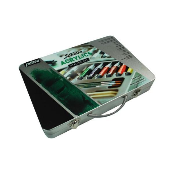 Coffret métal Studio acrylique - Pébéo