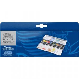 Boîte d'aquarelle Cotman Blue Box - Winsor & Newton