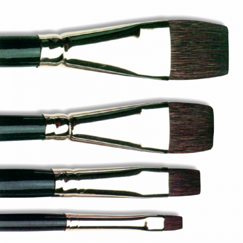 Pinceau plat en Petit-gris - série 6236 - Isabey