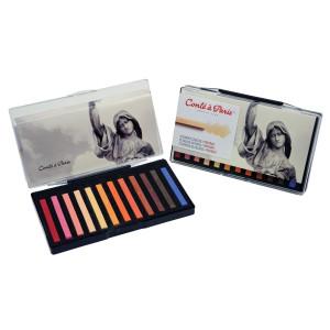 Coffret 12 carrés couleurs portrait - Conté à Paris