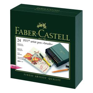 Coffret 24 feutres PITT artist pen - Faber-Castell