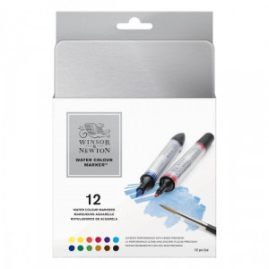 Boîte de 12 marqueurs aquarelle - Winsor & Newton