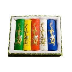 Coffret de 5 bâtonnets d'encre de Chine de couleur