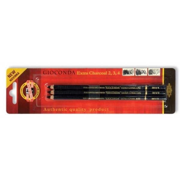 Etui de 3 crayons fusains - Gioconda