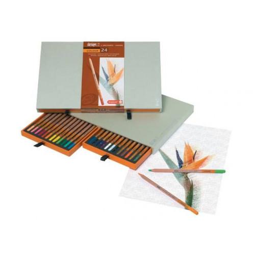 Coffret 24 crayons de couleur - Bruynzeel