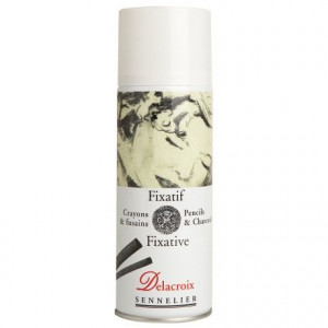 Fixatif crayon & fusain - Delacroix
