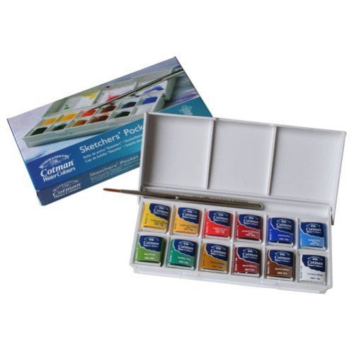 Boîte d'aquarelle Cotman Sketcher - 12 demi-godets