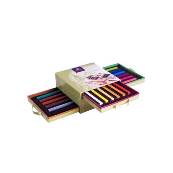 Assortiment de 18 carrés couleur - Conté à Paris