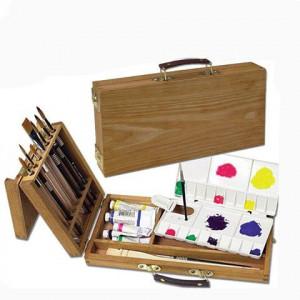 Boîte Turner en bois d'orme + palette plastique