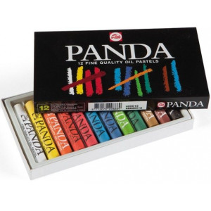 Pastels à l'huile Panda