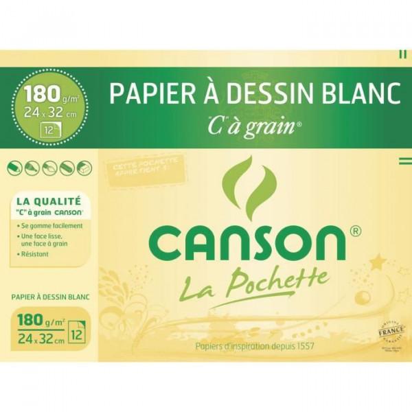 Pochette papier - C à grain - 180gr/m² - Canson