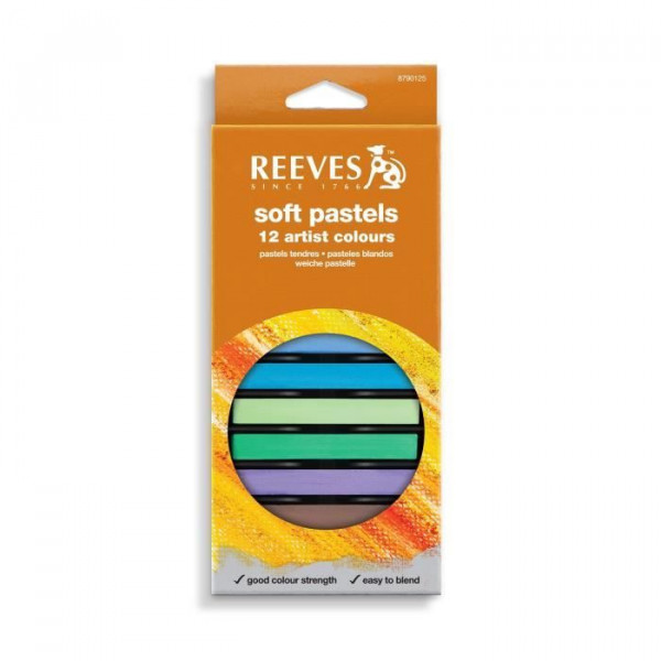 Set de 12 pastels tendres - Reeves