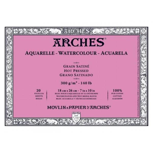 Bloc aquarelle Arches - grain satiné 300gr