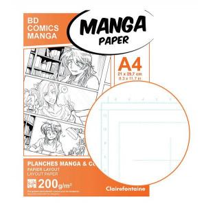 Planches Manga & BD avec repères - 200gr/m² - Clairefontaine