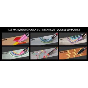 Mallette de 20 marqueurs POSCA - métallisés & pailletés