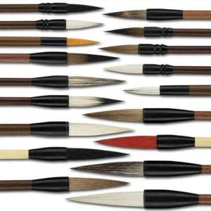 Set de 18 pinceaux chinois Panda + tourniquet