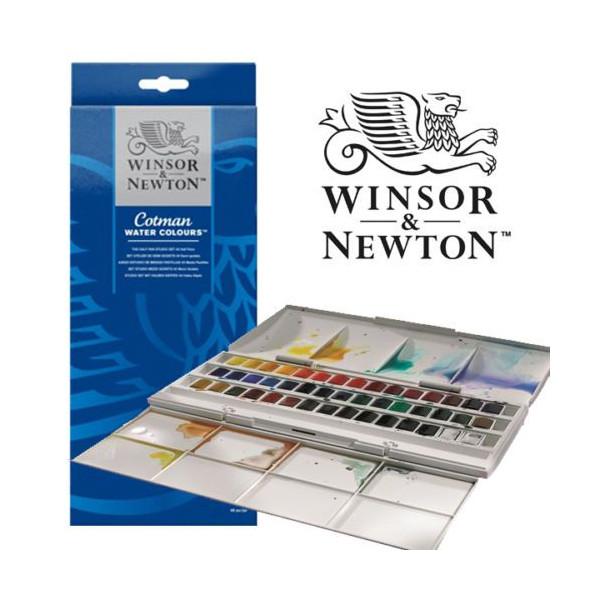 Boîte aquarelle Cotman de 45 demi-godets - Winsor & Newton