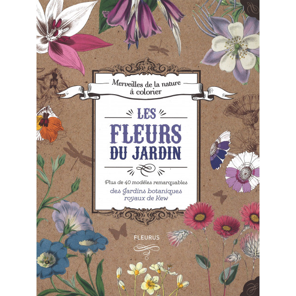 Les fleurs du jardin à colorier - livre