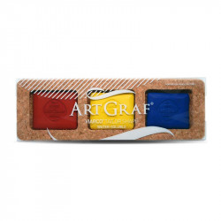 Assortiment de pavés aquarellables - Couleurs primaire - ArtGraf
