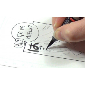 Pinceau calligraphie rechargeable - Pentel