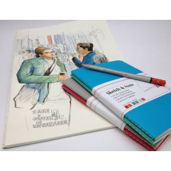 Carnet de croquis & notes - Lot de 2 carnets - Hahnemüle