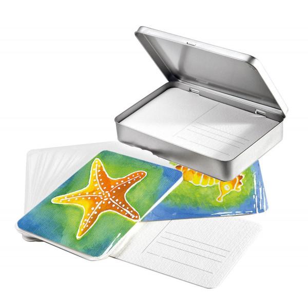 30 cartes postales + Boîte métal - Hahnemühle