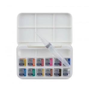 Boîte d'aquarelle Cotman 12 demi-godets + bloc cartes postales offert !