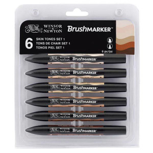 Set de 6 Brushmarker - Tons chair - Winsor & Newton