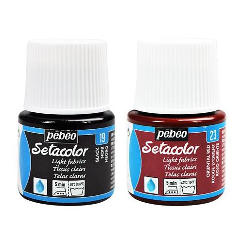 Peinture tissu Setacolor - tissu clairs - Pébéo