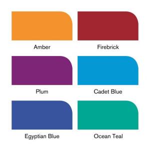 Set de 6 brushmarkers couleurs de tons riches